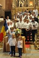 La Associació de Vehicles Antics con el Vicario General de la Seu d'Urgell