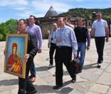 Feligreses de la parroquia de Kalojanovo