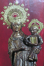 Cuadro de la imagen de la Mare de Déu de Lluc (Mallorca)