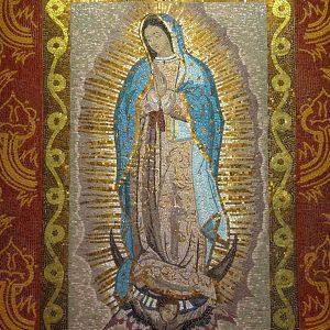 Mosaico de la Virgen de Guadalupe
