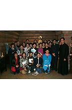 Peregrinos chinos que trajeron la Virgen el día 24 de Abril de 2003