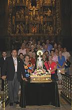 Peregrinos que trajerón la imagen el día 18 de Sep de 2004