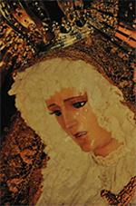 Imagen Nuestra Señora de la Fraternidad el 28/04/1996 durante la procesion