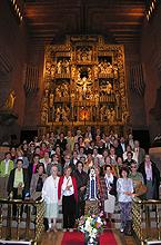 Foto de grupo en el santuario el 22 se Octubre de 2005