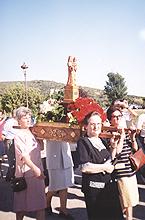 10 de agosto de 1997 primera peregrinación con la virgen de la Peña