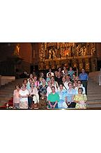 Foto de familia en el Santuario el día 30 de junio de 2005