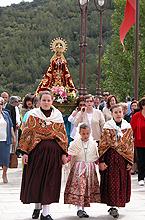 Procesión con la Virgen el día 5 de Mayo de 2005