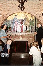 familias belgas en la entrnización de la virgen el día 18 de julio de 1995