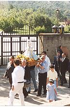 Inicio de la procesión el día 21 de junio de 1997