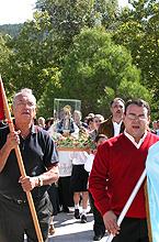 Procesión con la Virgen el día 4 de Octubre de 2003
