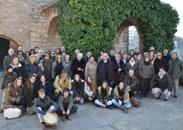 El grupo de peregrinos en la ermita