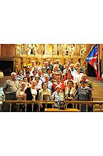 Grupo de feligreses de la Parroquia de Moralzarzal (Madrid)