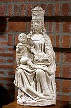 """Imagen de la Virgen del colegio """"Eskibel"""""""