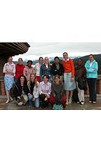 Grupo de holandeses que trajerón a la virgen el día 3 de mayo de 2004
